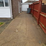 Before - Old Concrete Driveway in Thorney Peterborough