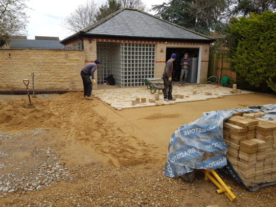 Guys Installing Block Paving in Werrington