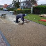 Resin Being Troweled in Thorney Peterborough