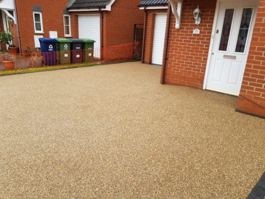 Golden Pea Resin Driveway in Peterborough