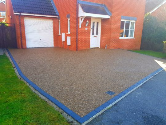 Resin Bound Driveway Install in Yaxley Peterborough