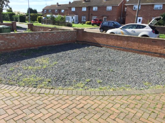 Before Resin Driveway Install in Whittlesey