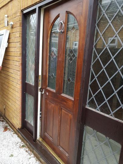 Old Front Door and Side Screens in Werrington