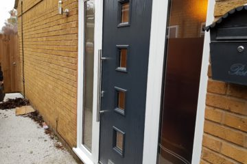 Grey Composite Door and Side Screens