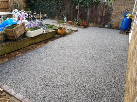 Resin Patio Install finished in Alloy Resin