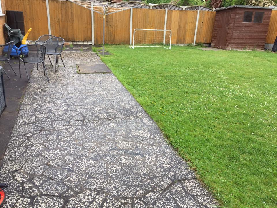 Old Crazy Paved Patio in Bretton