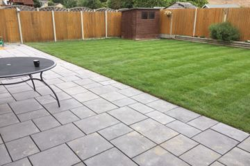Grey Paving Slabbed Patio Install
