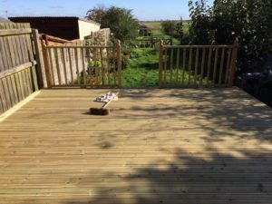 Decking install in Peterborough