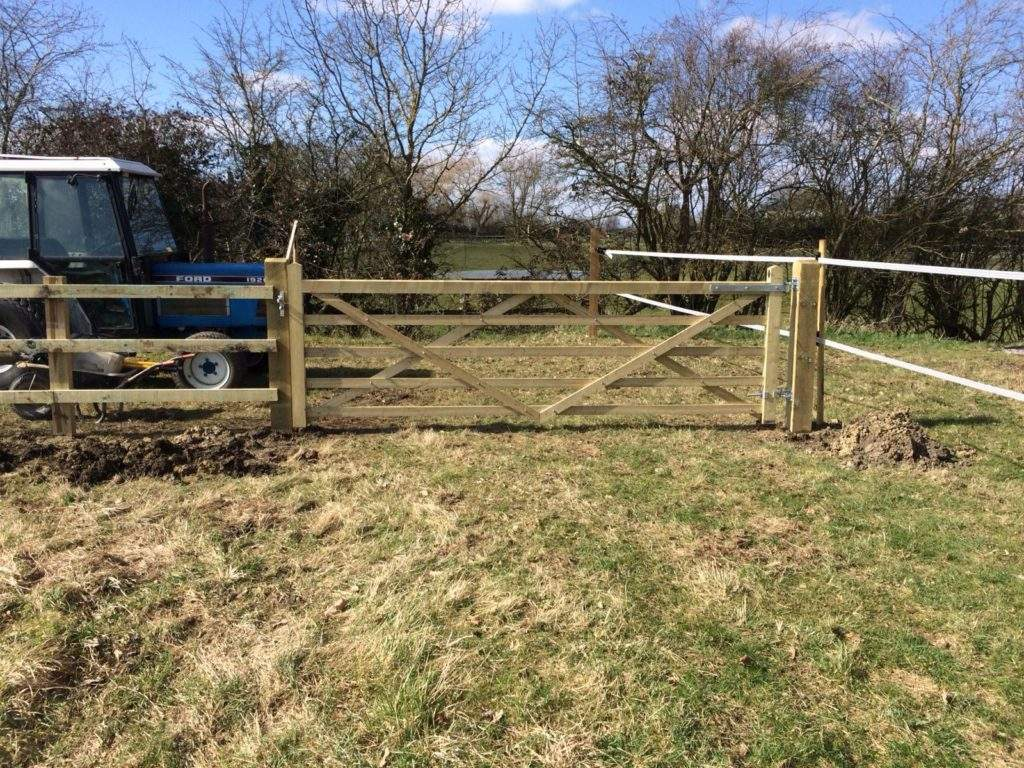 New Gate Installed as part of an agricultural install in Ely
