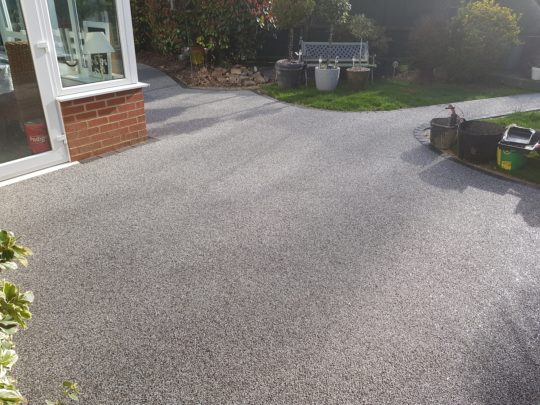 Resin Bound Patio replacing Block Paving Peterborough