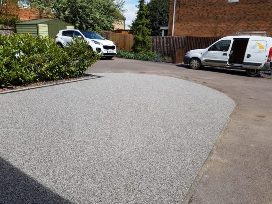 Silver Resin Driveway in Stanground