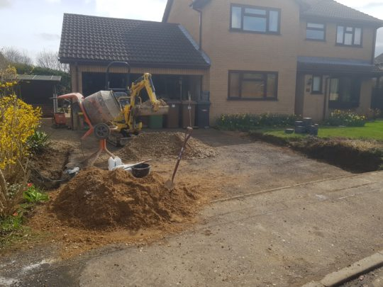 Driveway Being Extended in Peterborough