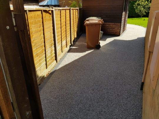 Resin Pathway to Patio Area