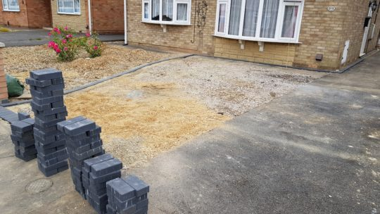 Block Paving Edging Being Installed in Gunthorpe