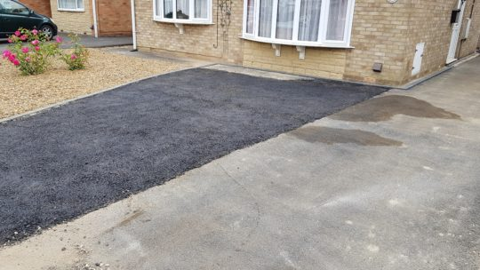 Driveway Extended with Bitumen Base