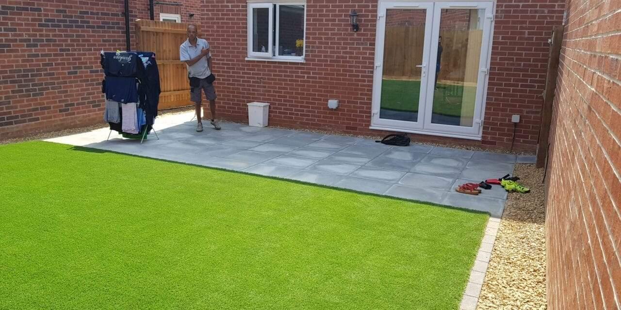 Concrete Slab Patio installed in Peterborough