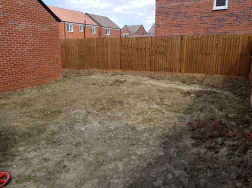 Before Artificial Grass and Patio Install
