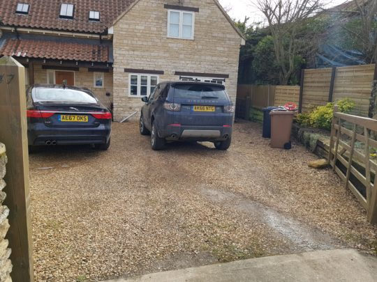 Old Gravel Driveway Before Resin
