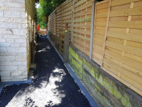 Pathway with Bitumen Base Installed