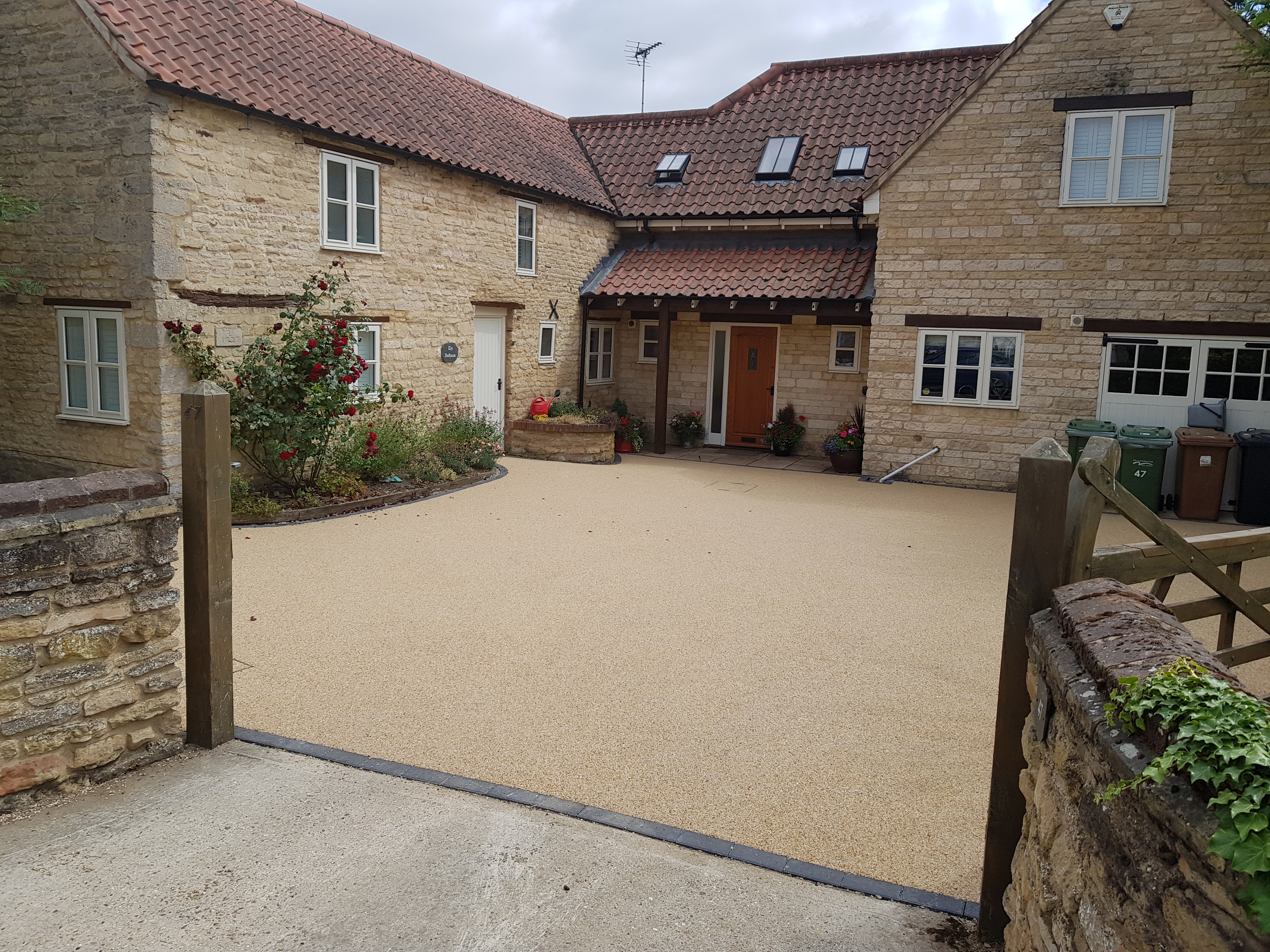 Large Resin Driveway in Maxey