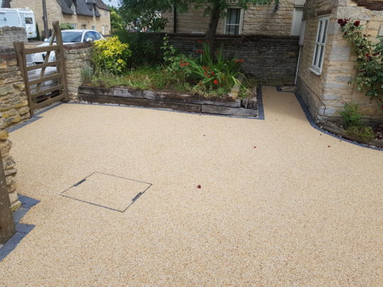 Autumn Quartz Resin Drive in Maxey Lincolnshire