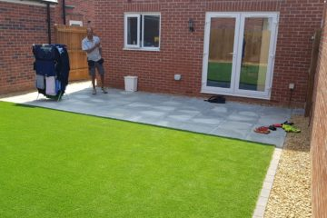Artificial Turf and Patio installed in Peterborough