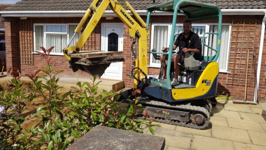 Driveway Being Excavated