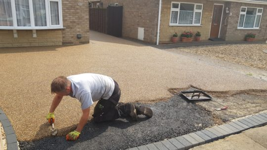 Resin Being Troweled in Gunthorpe