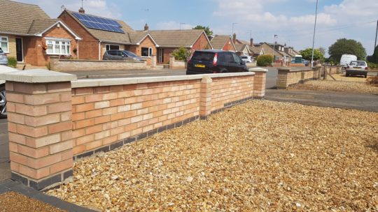 New Wall Installed in Gunthorpe Peterborough