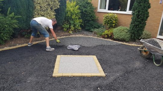 Resin Being Trowelled in Farcet