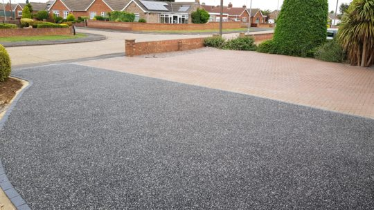 Resin Bound against Block Paving