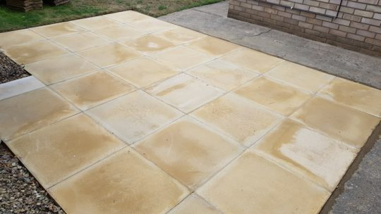 Budget Patio installed in Gunthorpe Peterborough