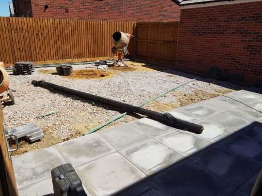 Artificial Turf and Patio Being Installed in Peterborough