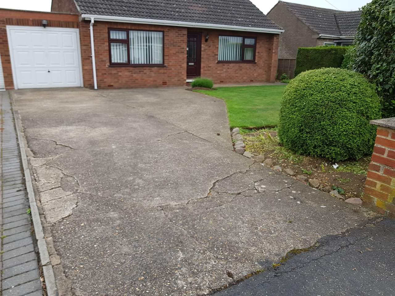 Old Concrete Driveway in Ellwood Avenue Stanground