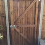 New wooden gate installed