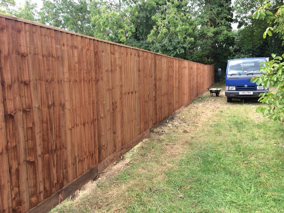 Fencing being installed