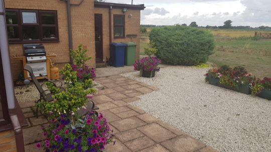 Patio and garden make over with Resin Bound Peterborough