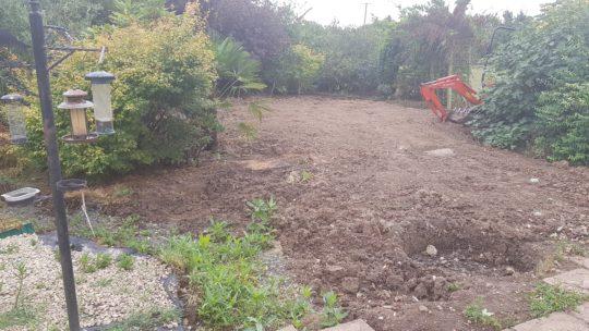 Large Rear Garden Excavation