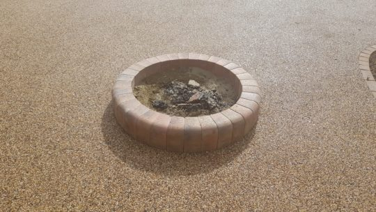Raised Fire Pit made of Blocks