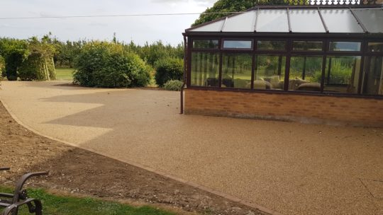 Large Resin Bound Garden Area in Wisbech