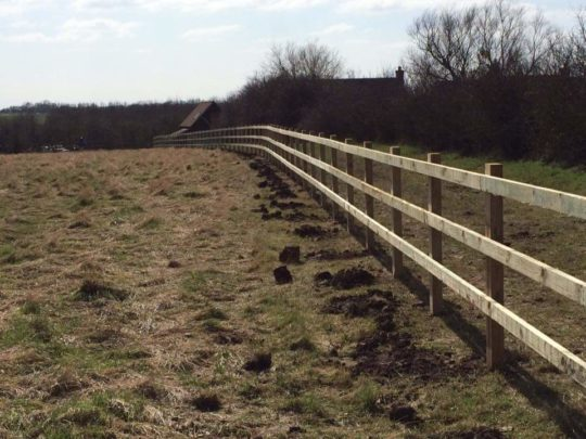 Three Bar Fencing install in Peterborough