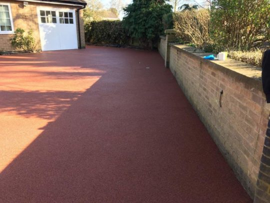 Red Resin Bound Driveway Glinton