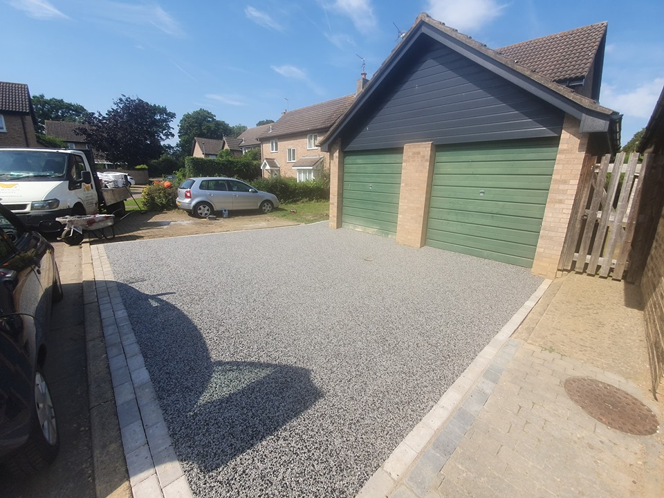 Resin Bound Driveway and Pathway in Orton Wistow