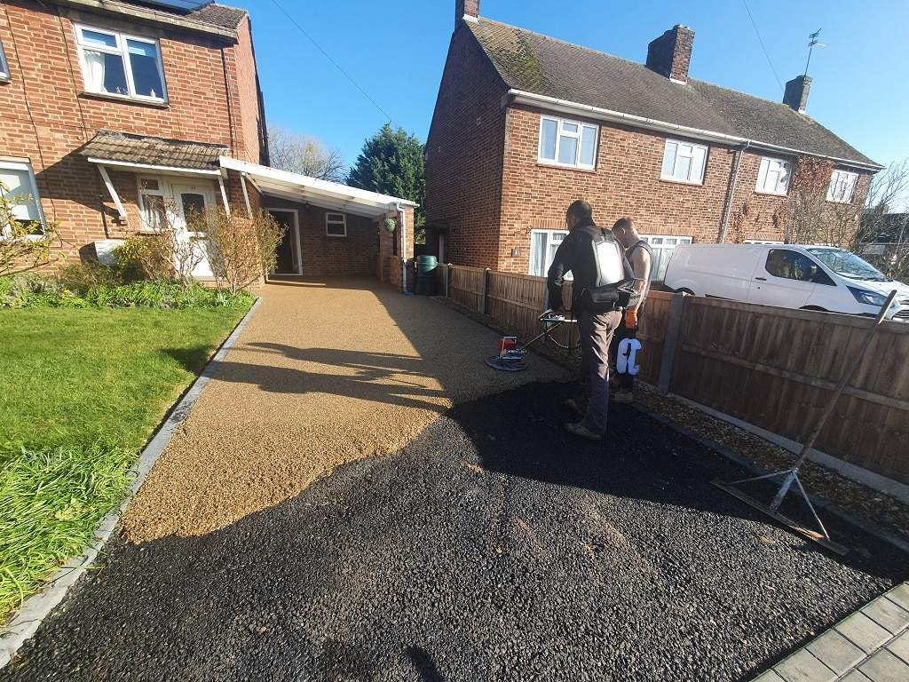 Resin Bound Driveway Being installed in Stamford Lincs
