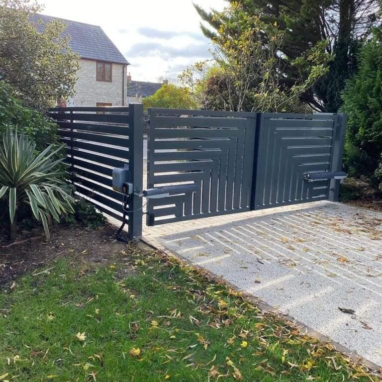 Designer driveway gates installed in Peterborough