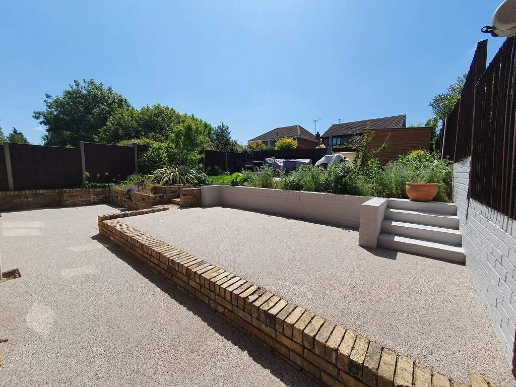 Resin Bound Patio installed in Troutbeck Close Gunthorpe