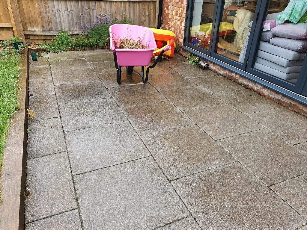 Before Decking installation in Peterborough