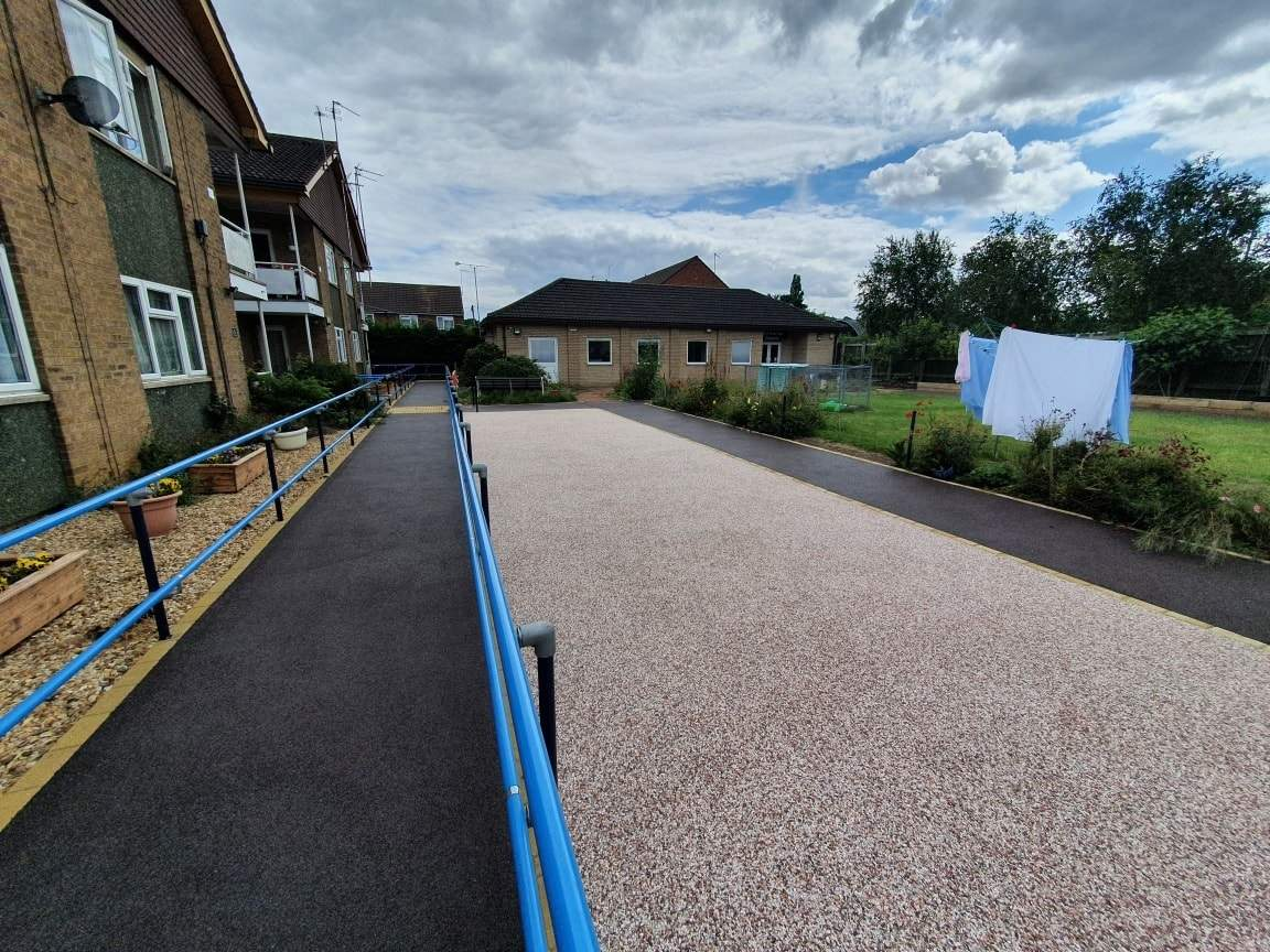 Resin Patio Area installed for Deaf Blind UK in Peterborough