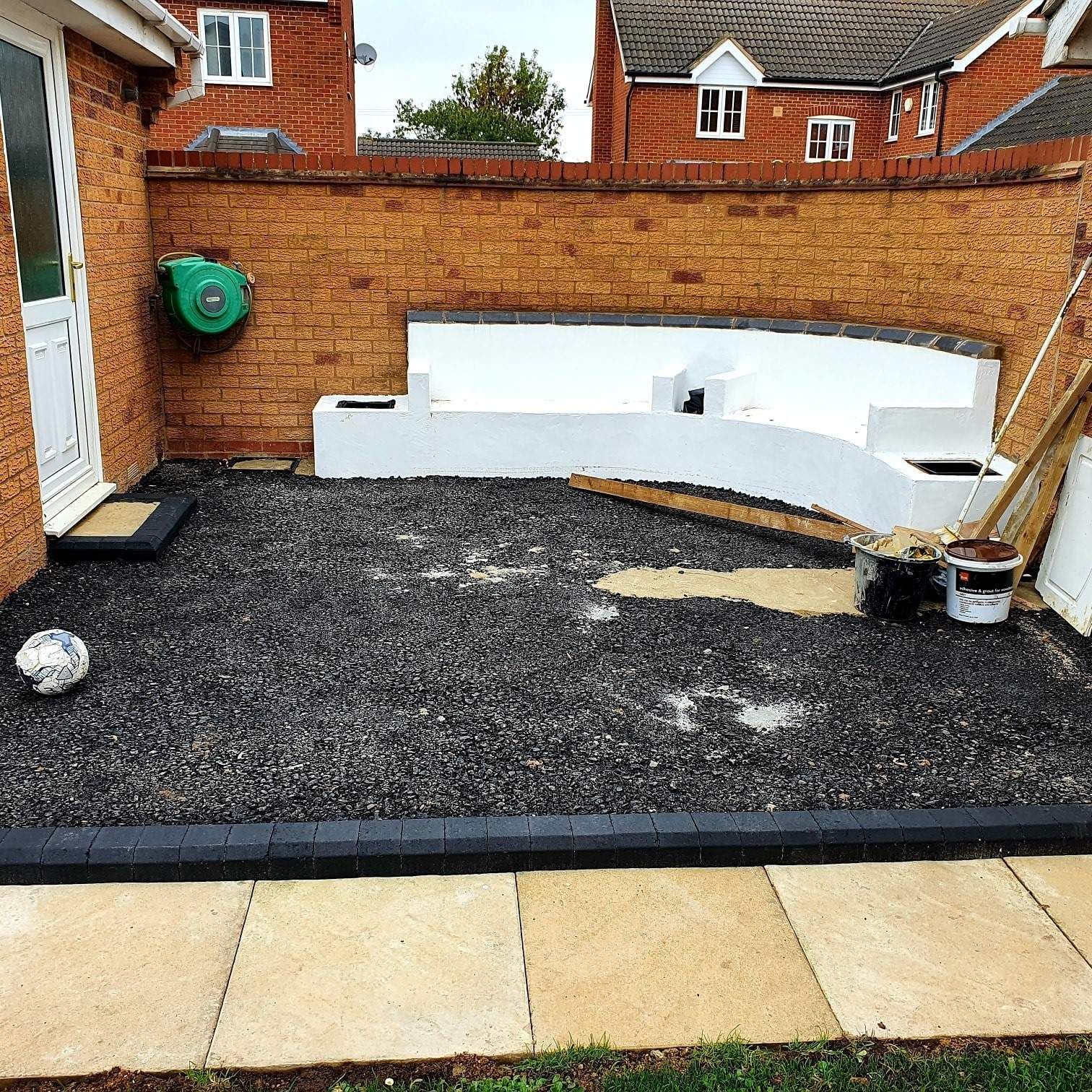 Resin Bound Patio being prepared in Crowland