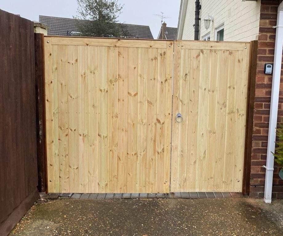 Bespoke 3/4 Timber Gates Installed in Peterborough